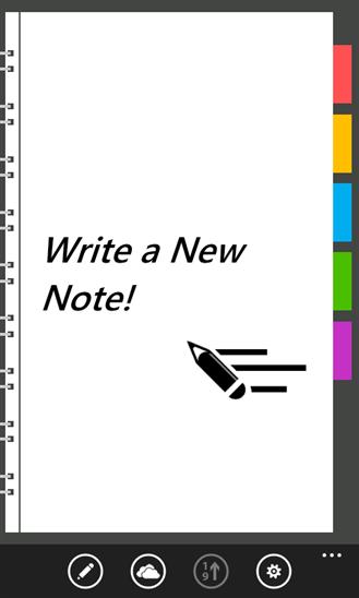 FastNote escribe una nota nueva