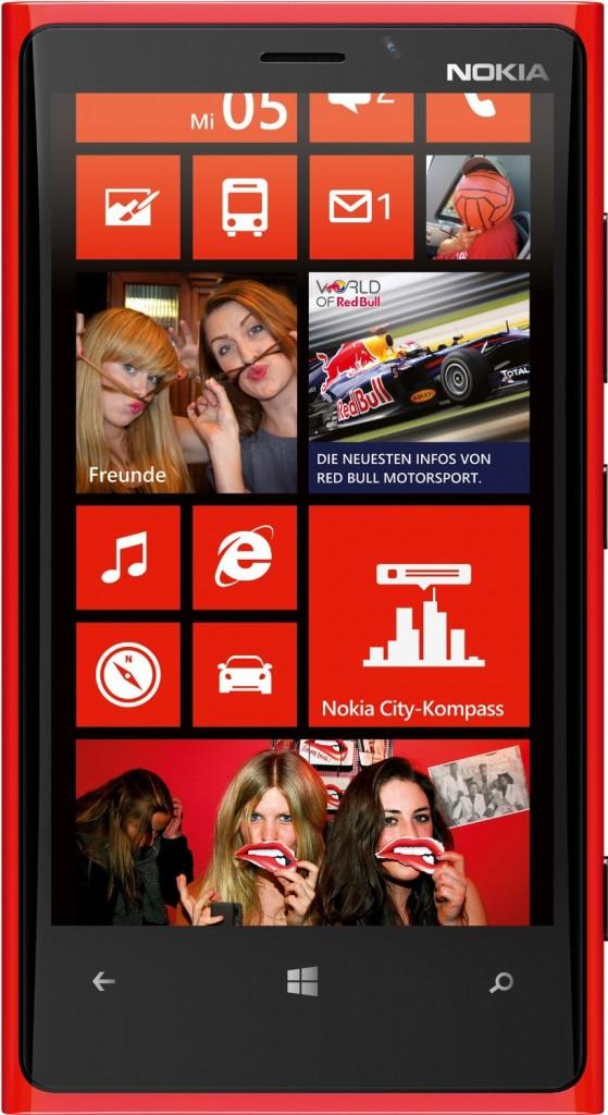 Nokia Lumia 920 en rojo