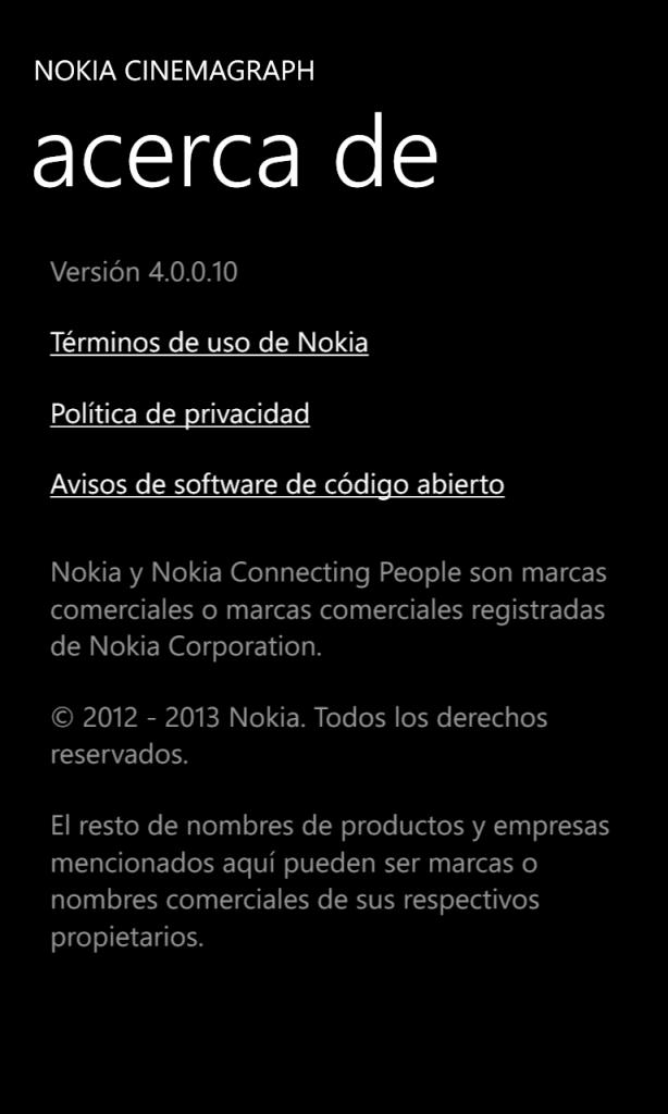 Nokia Cinemagraph ver. 4.0.0.10