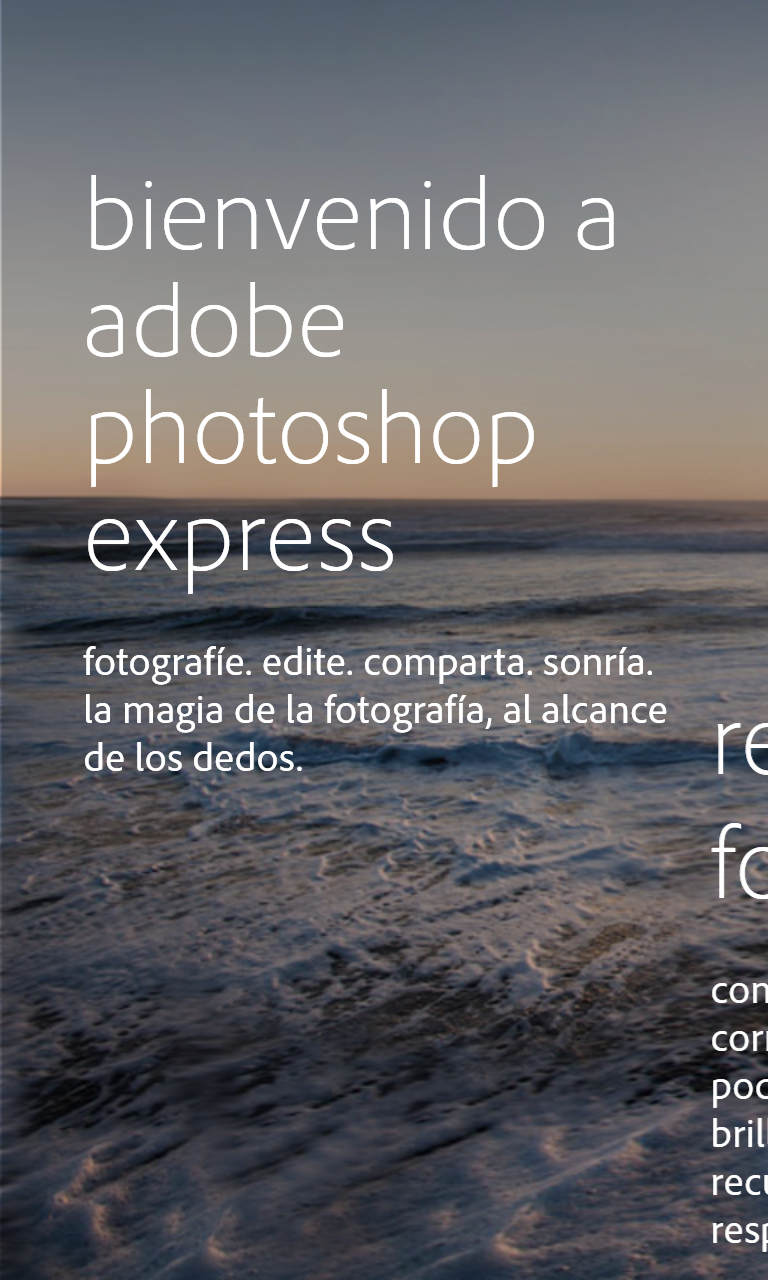 Adobe Photoshop Express en un Nokia Lumia 1020