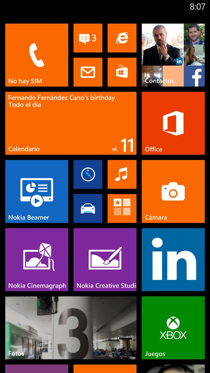 Lumia Cyan en Nokia Lumia 1320