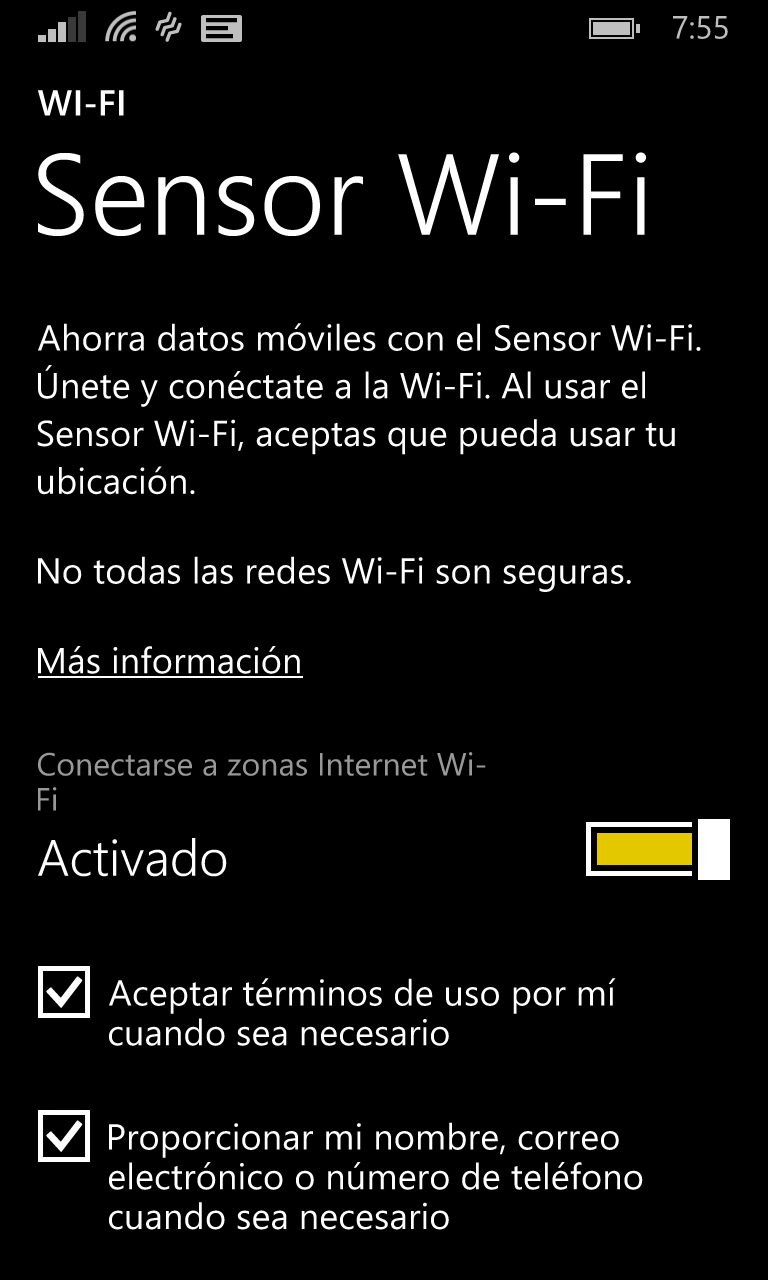 sensor Wi-Fi Lumia Cyan