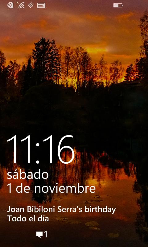 Pantalla de inicio Lumia 530