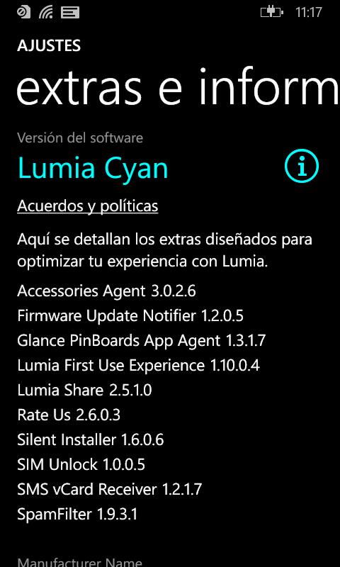 Lumia Cyan en un Lumia 530