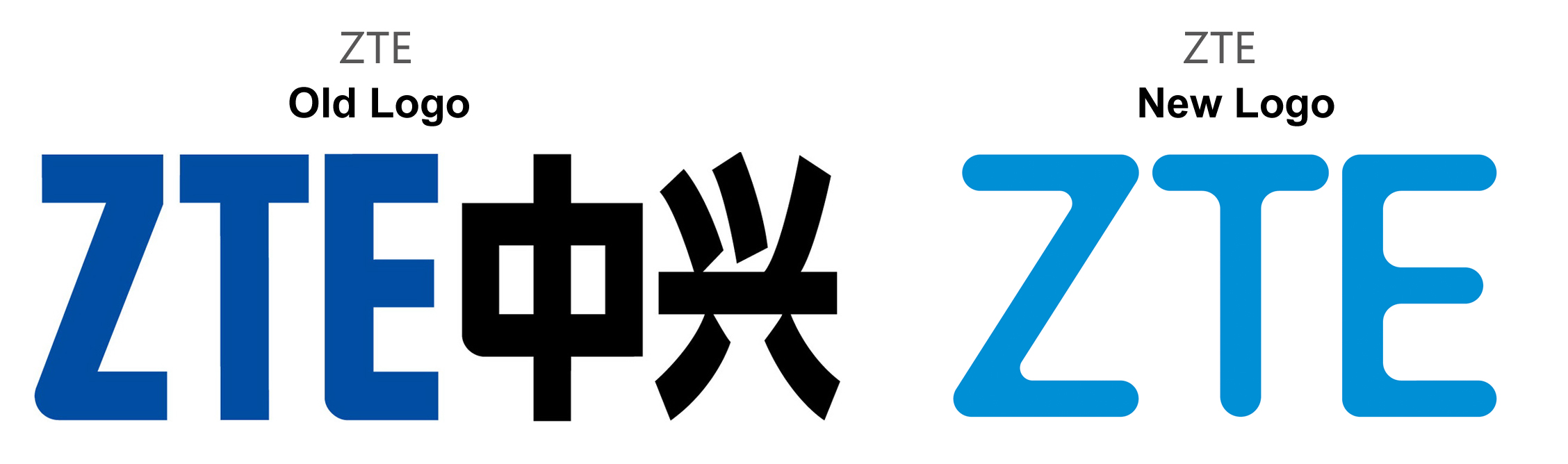 ZTE Old Logo vs New Logo
