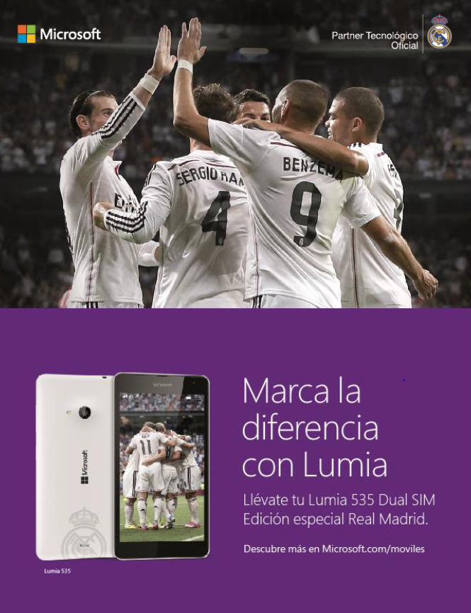 Lumia 535 Dual SIM Real Madrid