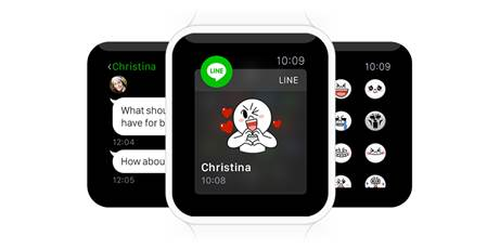 line y apple watch