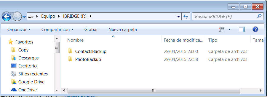 iBRIDGE_escritorio en PC