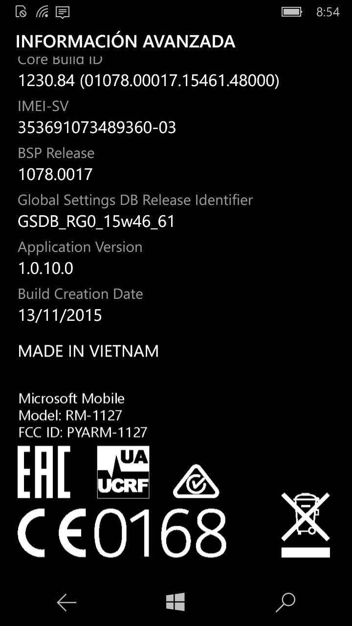 Microsoft Lumia 550 con Windows 10