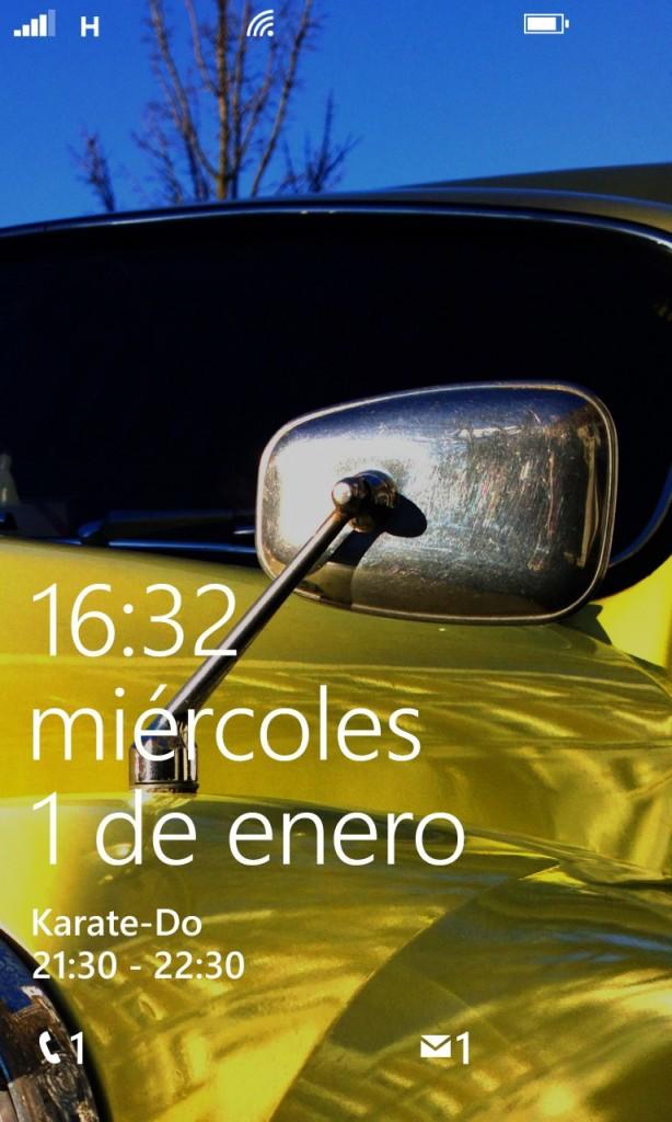 Pantalla inicio Nokia Lumia 1020