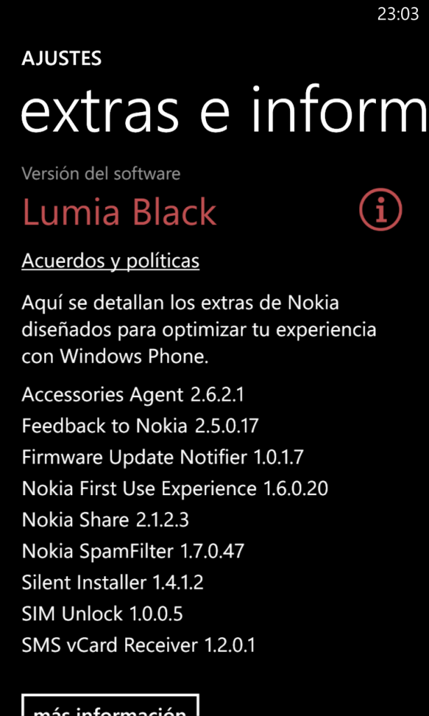 Lumia Black info