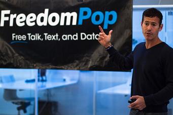 Stokols presentando esta mañana en Madrid las novedades de FreedomPop