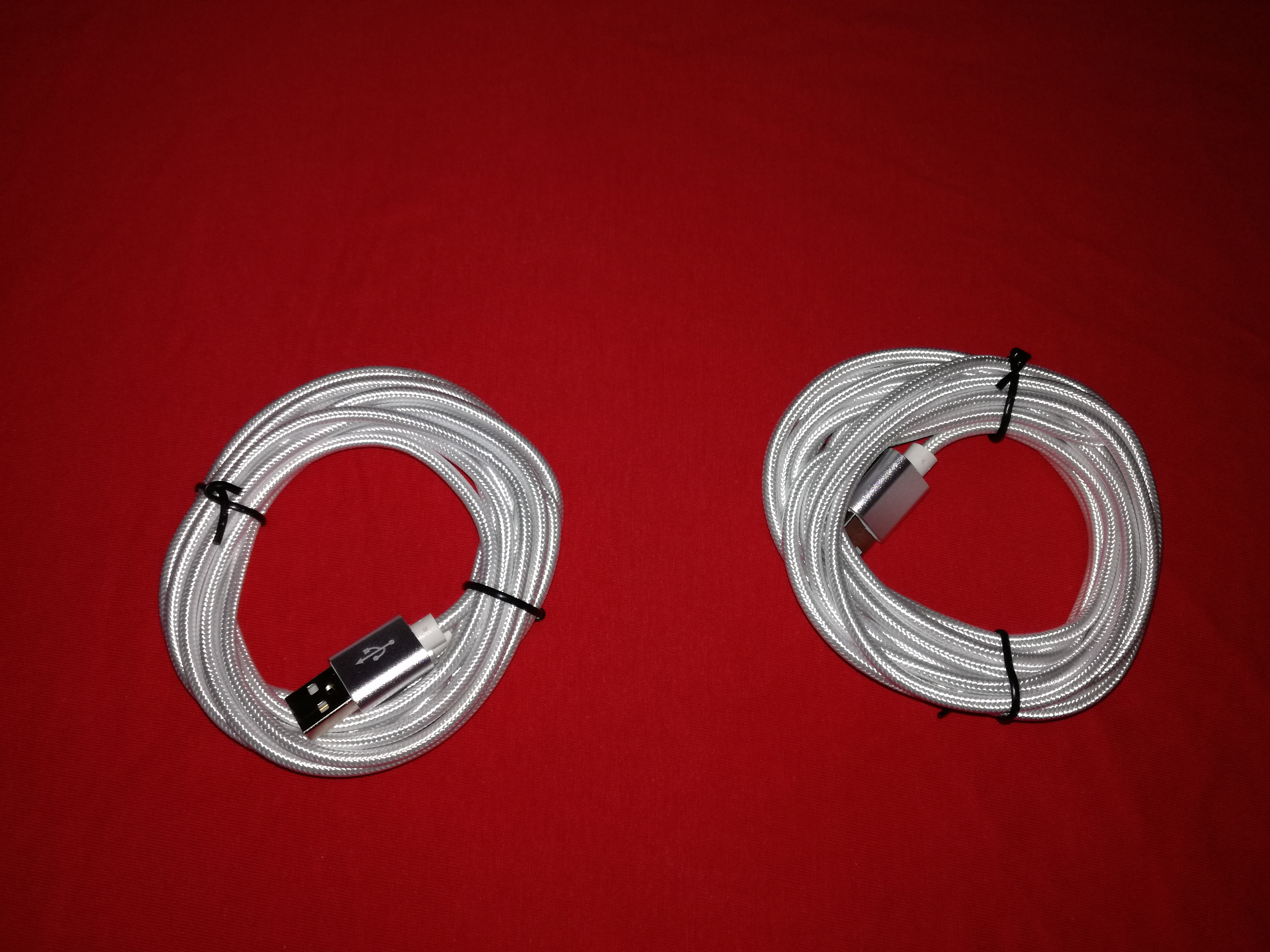 2 unidades Cable 3M USB tipo C