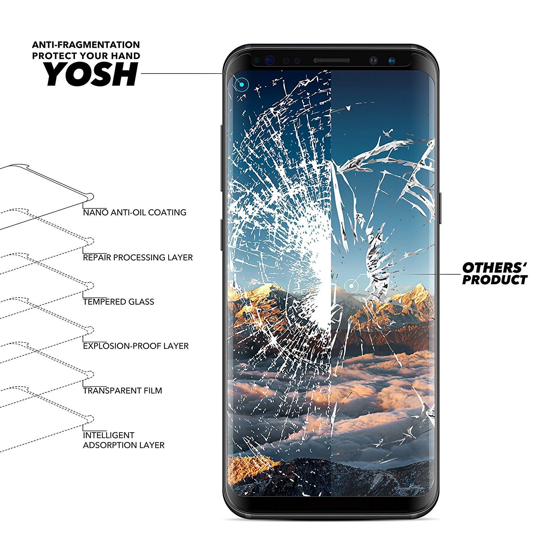Protector de Pantalla para Samsung Galaxy S8 Cristal Vidrio Templado YOSH