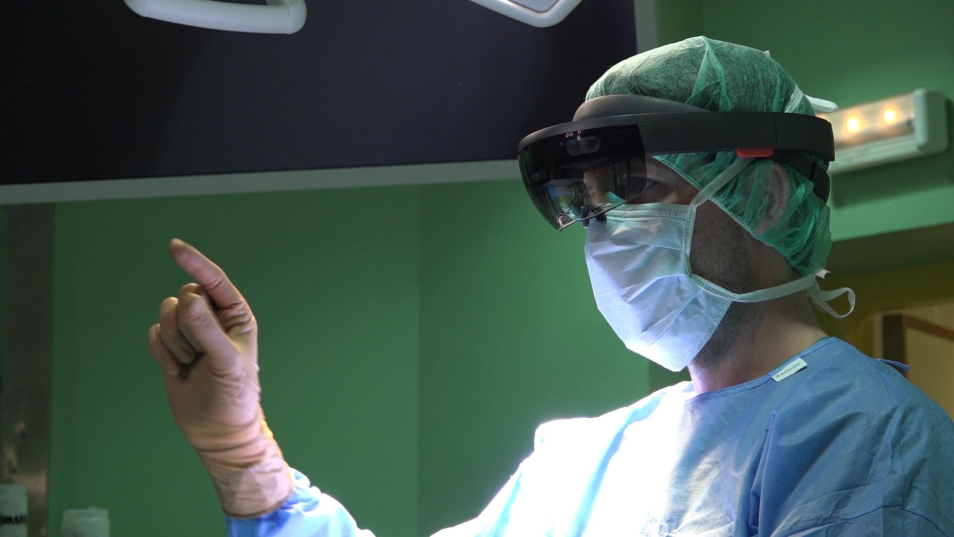 HoloLens en quirófano Hospital Gregorio Marañón.