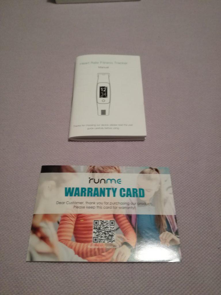 Manual y carta de garantía