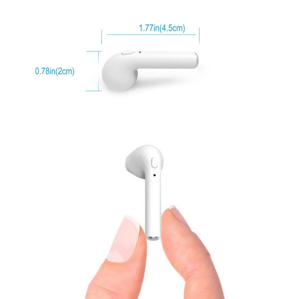 Auriculares Bluetooth Kelodo I7, dimensiones