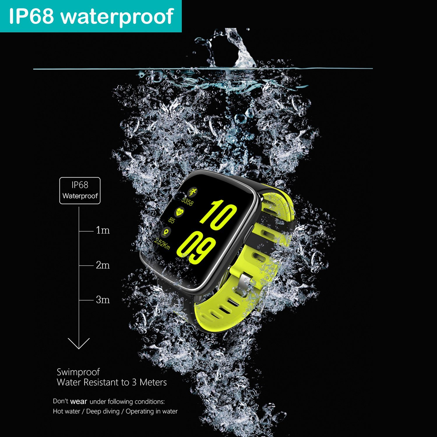 Reloj inteligente Willful con IP68