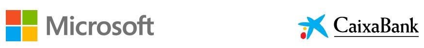 Logos Microsoft Caixabank