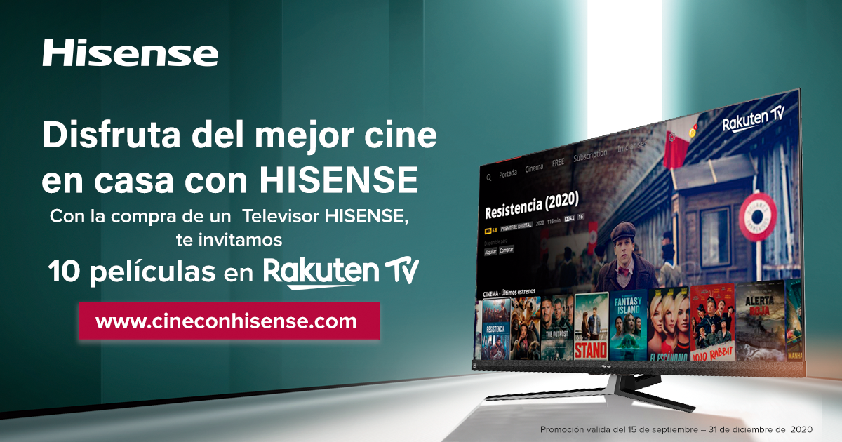 Promoción Hisense_Rakuten TV
