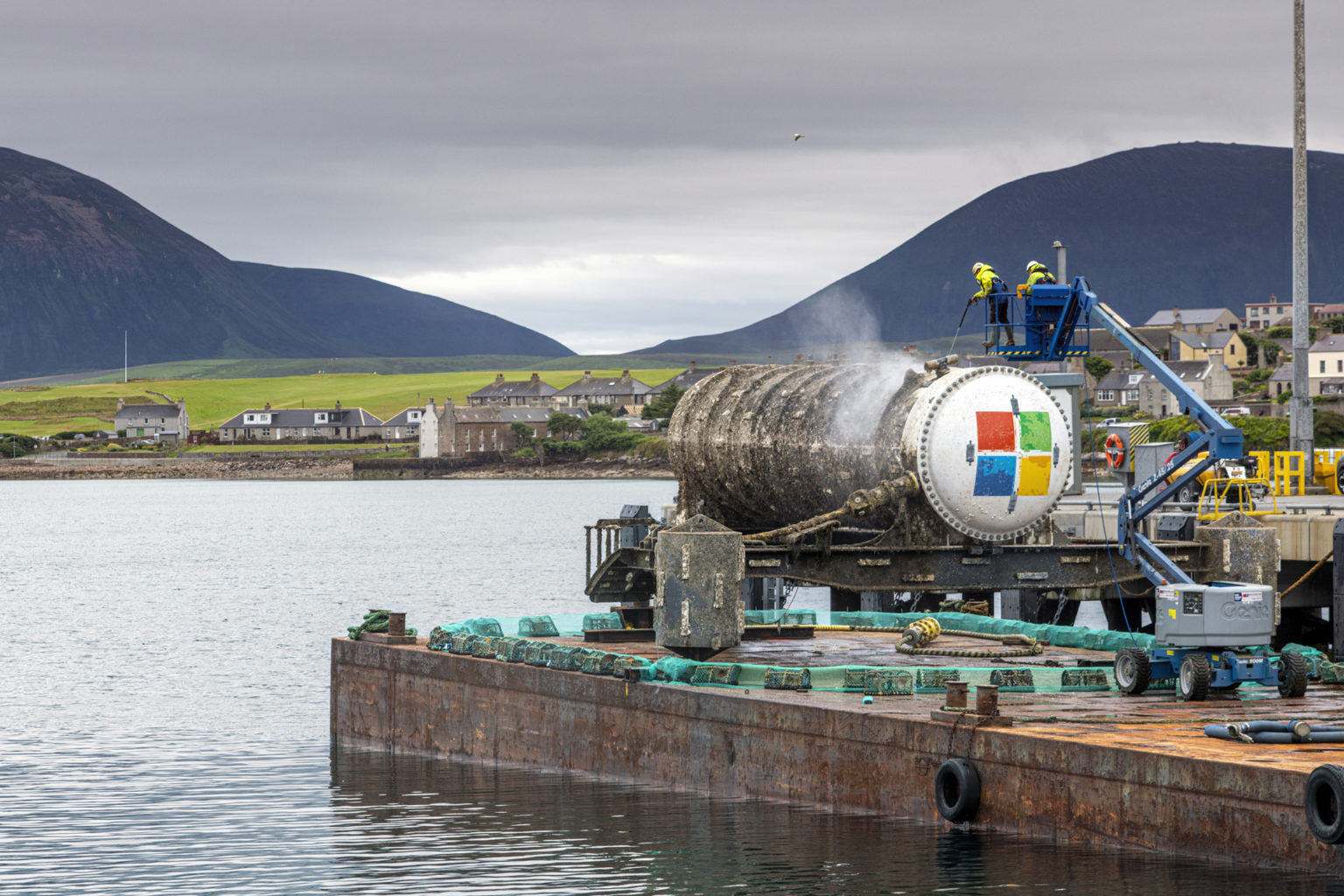 Project Natick, Vessel retrieval Stromness, Orkney. Microsoft - Tuesday 7th to Wednesday 15th of July 2020