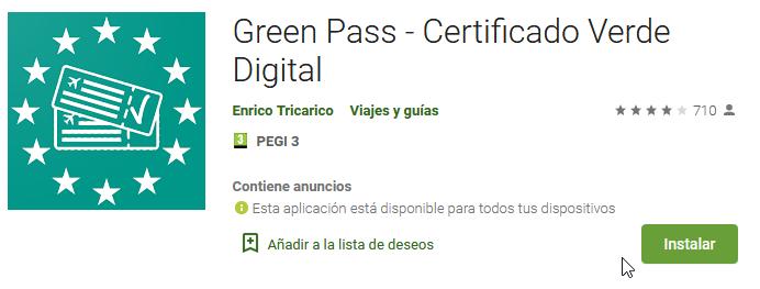 enlace Green Pass